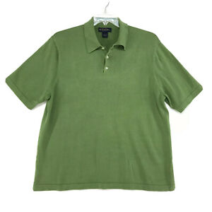 Brooks-Brothers-Polo-Shirt-Mens-Size-L-Large-Green-Short-Sleeve-Pima-Cotton