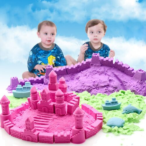 500g Magic Colorful Sand Kids Children Indoor Play Craft Non Toxic Toy