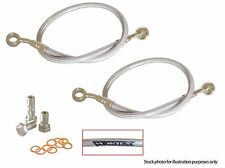 KAWASAKI 2005-2006 ZX 6R / 636 RR VORTEX FRONT STAINLESS STEEL BRAKE LINE KIT