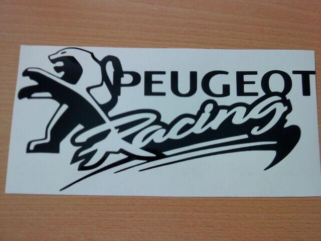 LARGE peugeot racing bonnet side vinyl car stickers decals graphics rear window