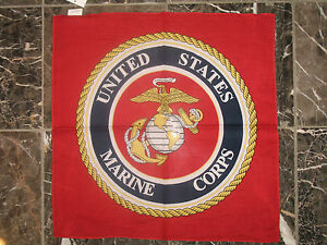 LOTE-12-1-dozen-55-9cmx55-9cm-Rojo-USMC-Marine-Ejercito-EGA-SELLO-BANDANA