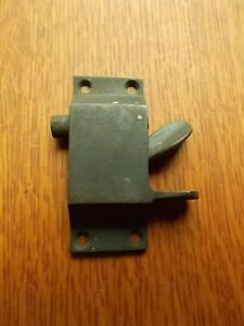 Antique Spring-Loaded Brass Window Side Sash Lock from Railroad Car Window