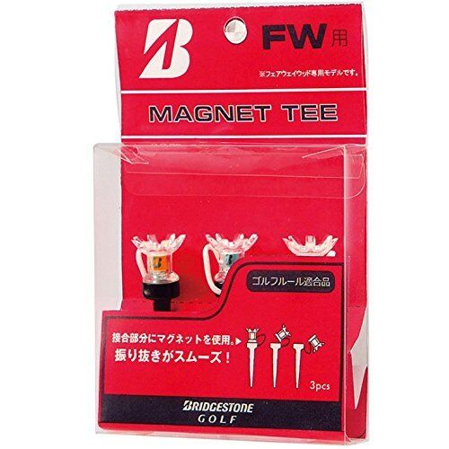 BRIDGESTONE JAPAN Golf Magnet Fairway wood Tee Tees 3pcs set 62mm GAGMTF