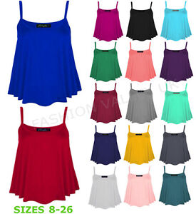 NEW-WOMENS-PLAIN-SLEEVELESS-STRAPPY-SWING-VEST-CAMI-LADIES-CASUAL-TANK-TOP-8-26