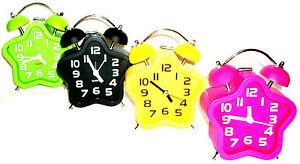 Nostalgischer Glockenwecker Quarzlaufwerk Sternform Uhr Wecker Alarm Clock xs137