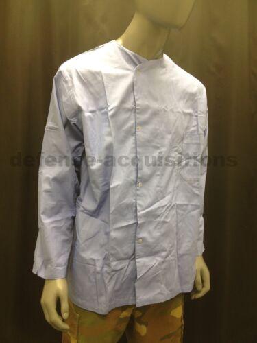 Mens Long Sleeve Medical Dental Scrubs Top Hospital Pajama Top Size Large BLUE