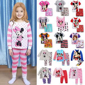 Image is loading Children-Baby-Girl-Kids-Clothes-Set-Pajamas-Homewear- 403c1164f