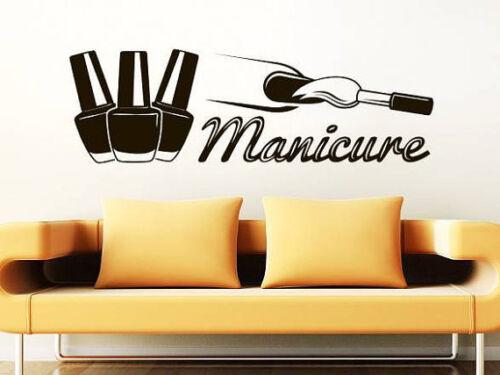 Wall Decal Manicure Vinyl Sticker Decals Beauty Salon Nails Varnish Hands NV96