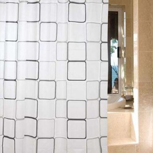 Rideau Douche PEVA Motif Carreau Noir Blanc Imperméable Décor Salle Bain Cadeau