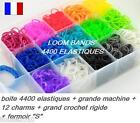 BOITE 4400  ELASTIQUES RAINBOW LOOM + MACHINE + GROS CROCHET  SANS LATEX !!!
