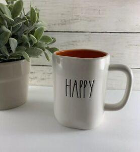 RAE-DUNN-by-Magenta-2019-Orange-LL-HAPPY-HALLOWEEN-Double-Sided-Coffee-Tea-Mug