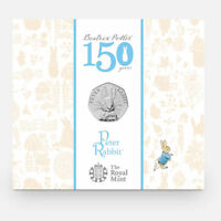 Peter Rabbit 2016 50p coin uncirculated Beatrix Potter sealed in pack