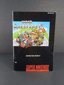 Super Mario Kart Super Nintendo SNES Manual Instruction Booklet Only!