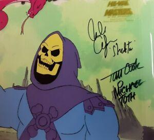 MOTU He-Man Original Painted Cel & Background Filmation Skeletor  Signed x 3