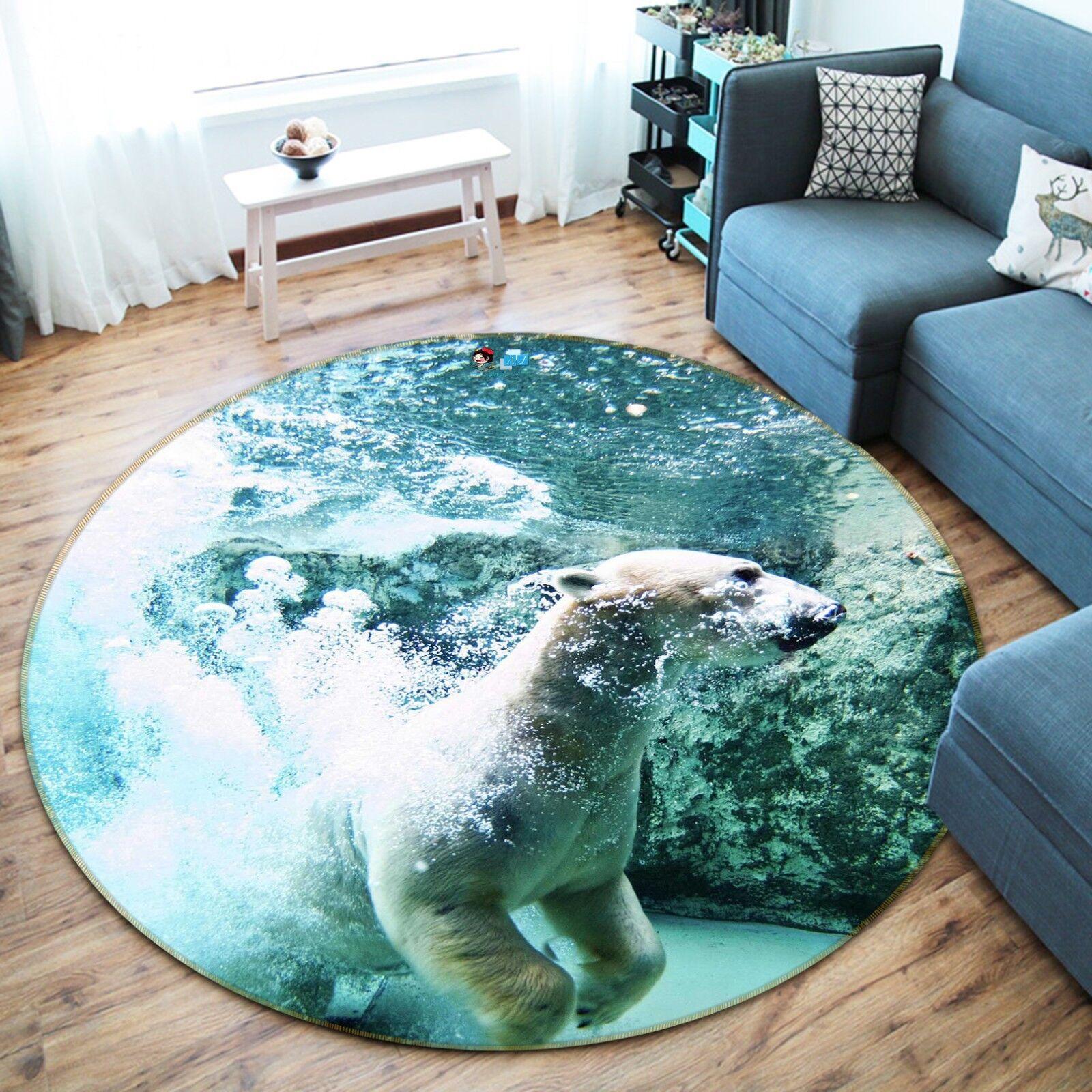 3d oso blancoa 38 antideslizante alfombra de maletero rondas elegante alfombra de