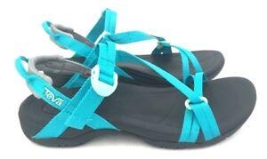 Teva-Sirra-Women-039-s-Hiking-Lightweight-Sport-Sandals-in-Tile-Blue