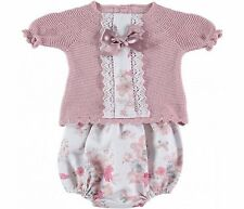 Baby Girl Romany/spanish Style Knitted Zip Zap Pink Outift 6 Months Outfits & Sets