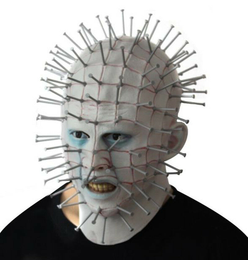 Movie Hell Raiser Mask Horror Cosplay Costume Prop Full Face Deluxe Adult Masks - creepy party - ebay.co.uk
