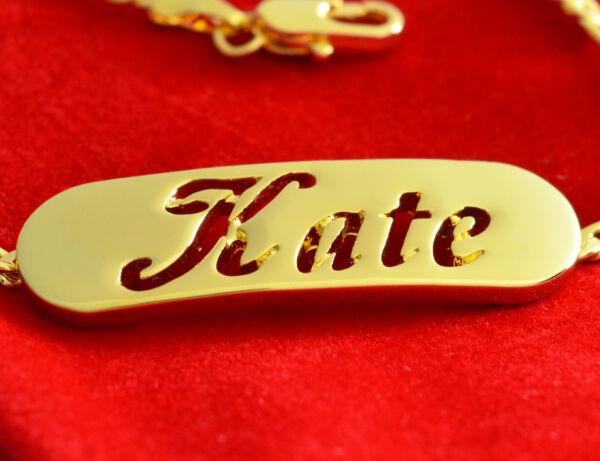 100% Wahr Namensarmband 'kate' 18k Gold Beschichtet | Für Mutter Schwester Freundin