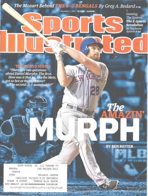 Daniel Murphy New York Mets Baseball Sports Illustrated Magazine, Nov 2, 2015
