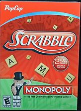 Monopoly and Scrabble 2 Full PC Games DVD ROM Software Windows or Mac