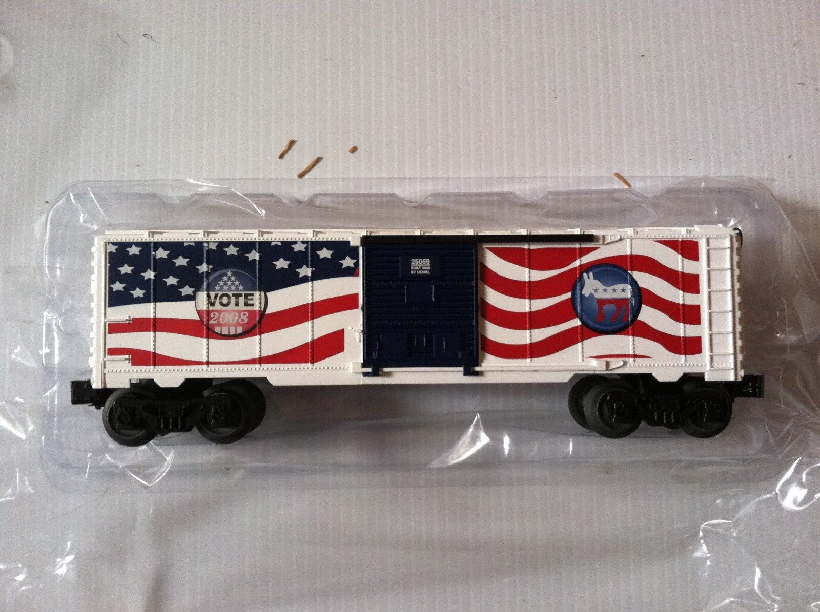 Lionel 6-25059, Democrat 2008 Election Boxcar,  New Mint In Box