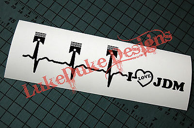 JDM HEART BEAT  Decal Vinyl JDM Euro Drift Lowered illest Fatlace