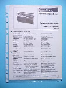 SERVIZIO-MANUALE-DI-ISTRUZIONI-PER-NORDMENDE-Stradella-6-115-H-ORIGINALE