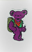 3 Hitch Hiking Dancing Bear Patch Embroidered Iron On Patches Grateful Dead