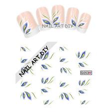 Stickers-Decals Water Transfer Flowers-Tattoo Adesivi Unghie Fiori Blu Bianchi!!