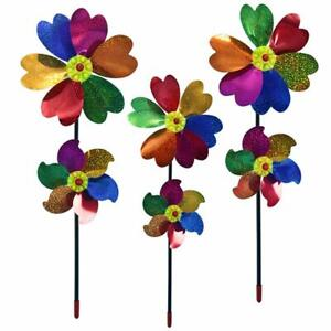 Double-Layer-Windmill-Pinwheel-Wind-Spinner-Kids-Toys-Lawn-Garden-Decor-Plastic