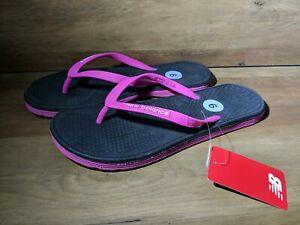 SZ 9 Sandals Grey Pink NB Flip Flop