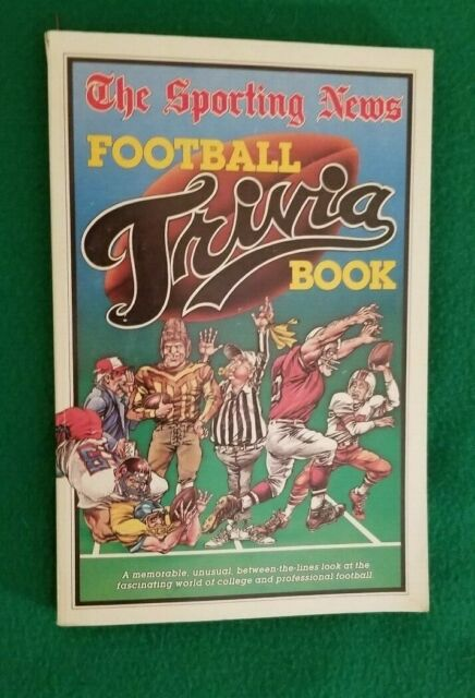 The Sporting News FOOTBALL TRIVIA BOOK, Paperback, 1985