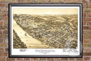 Vintage-New-Kensington-PA-Map-1896-Historic-Pennsylvania-Art-Old-Industrial