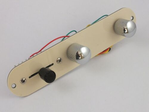 Fully Loaded CREAM CONTROL PLATE for Telecaster style guitar Switch Pots Knobs