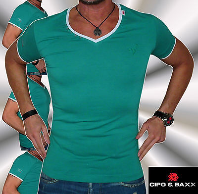 +neu+cipo&baxx+t-shirt+doppellagenlook+top+hemd+super+hammer+disco+kult+