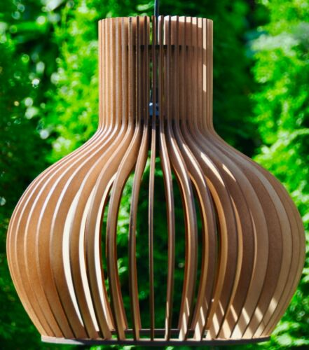 Deckenleuchte Holzleuchte Hängelampe Pendelleuchte XL Modern Design Holz Neu