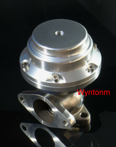 38MM Wastegate 7 PSI Turbo Stainless Steel Dump Valve w//SS Flanges Silver II