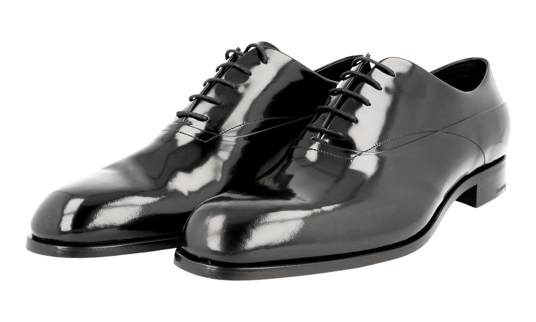LUSSO autentici PRADA Business Scarpe 2EB143 NERO NUOVO 11 45 45,5 Scarpe classiche da uomo