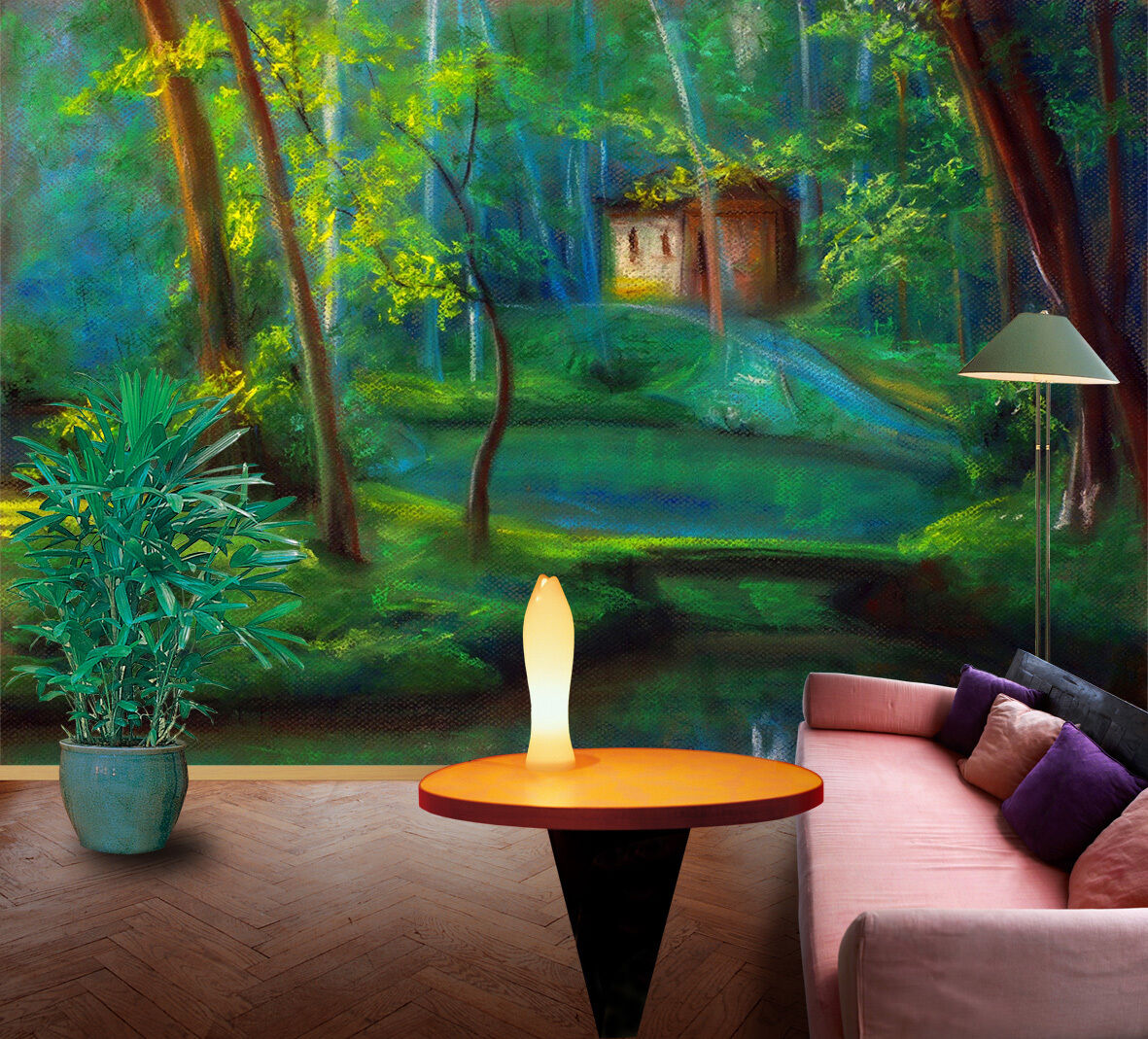 3D Deep forest, river 688 Wall Paper Print Wall Decal Deco Indoor Wall Murals