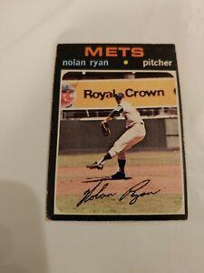 1971 Topps Nolan Ryan baseball card New York Mets #513 VG
