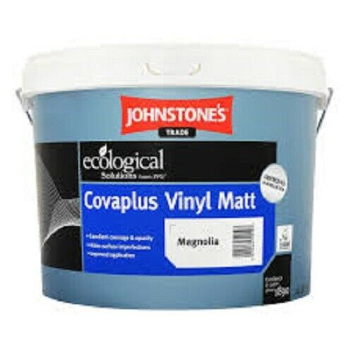 Johnstones Trade Covaplus Vinly Matt Emulsion Brilliant White//Magnolia 5L//10L