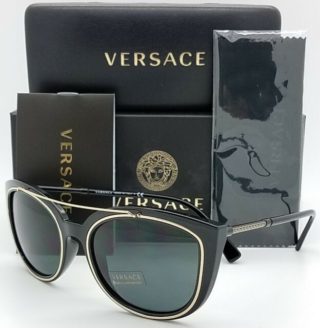 ff30e2f24ec New Versace sunglasses VE4336 GB1 87 Black Grey Medusa 4336 Butterfly  AUTHENTIC