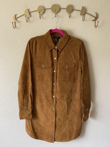 forever 21 leather jacket Shirt Size M - image 1
