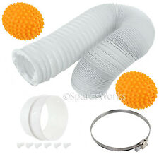 13 Ft Vent Hose Extension Pipe /& Softener Balls for LOGIK Tumble Dryer