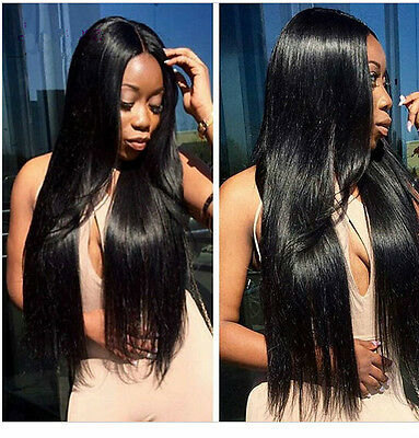 1 Bundle 100% Remy Virgin Brazilian Human Hair Extensions Weft Straight Hair 50g