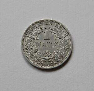 Imperio: 1 Marco 1907 J, J. 17 , Excelente / Recién Acuñado