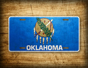 Oklahoma Flag License Plate OK State Official Flag Symbol Auto Tag 6x12 ~METAL~