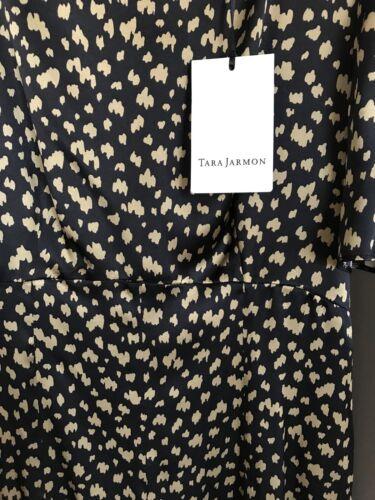 e abito oro nuova nero stampato 36 Val Satin nella Jarmon 295 Splendido Tara nXxHwCC