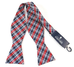 Self-Tie-Bow-Tie-Blue-Red-White-Plaid-Bowtie-Adjustable-2-25-034